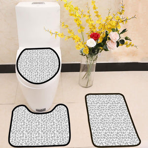 Abstract summer sun pattern 3 Piece Toilet Cover Set