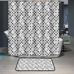Black strokes pattern Shower Curtain