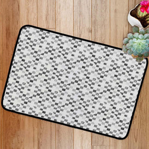 Black strokes pattern Bath Mat