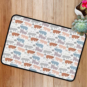 Bears with different style Bath Mat