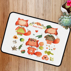 Happy foxes Bath Mat