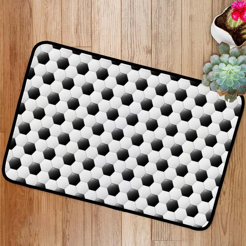 Soccer football pattern Bath Mat
