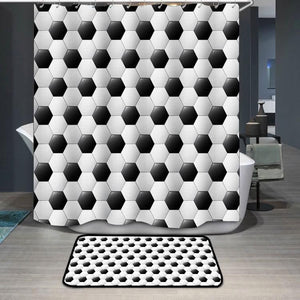 Soccer football pattern Shower Curtain