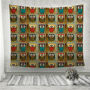Fabric owl Wall Tapestry