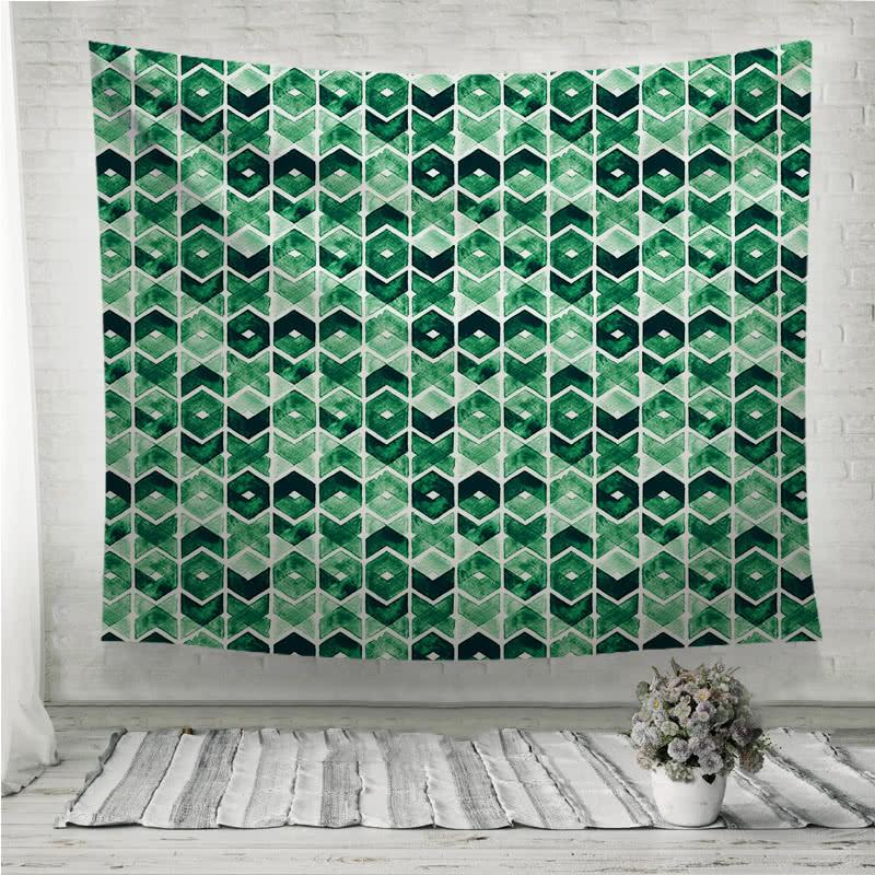 Abstract Lush Meadow Wall Tapestry