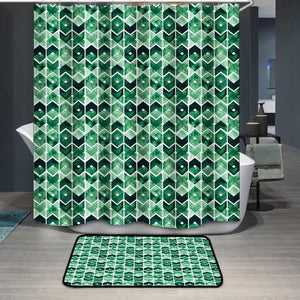 Abstract Lush Meadow Shower Curtain