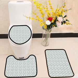 Vector illustration fish pattern 3 Piece Toilet Cover Set
