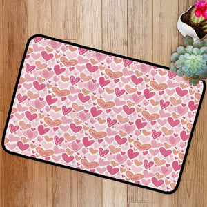 Pink hearts for Valentine's day Bath Mat