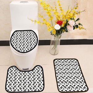 Cactus plant black and white 3 Piece Toilet Cover Set