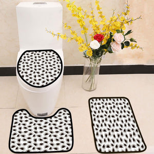 Palm branch trendy pattern 3 Piece Toilet Cover Set