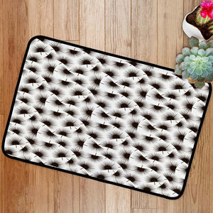 Palm branch trendy pattern Bath Mat