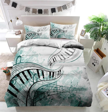 Music performance graphic Duvet Cover Bedding set