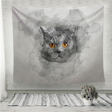 Cute British shorthair cat Wall Tapestry