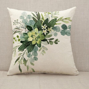 Wedding greenery bouquet Throw Pillow [With Inserts]