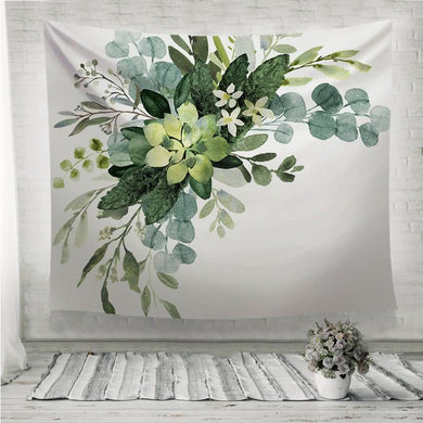 Wedding greenery bouquet Wall Tapestry