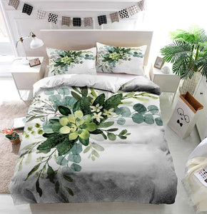Wedding greenery bouquet Duvet Cover Bedding set