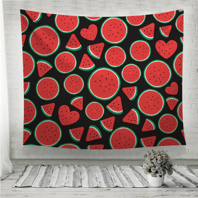 Watermelon with different shapes pattern Wall Tapestry