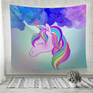 Colorful unicorn design Wall Tapestry
