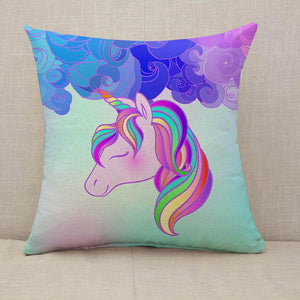 Colorful unicorn design Throw Pillow [With Inserts]