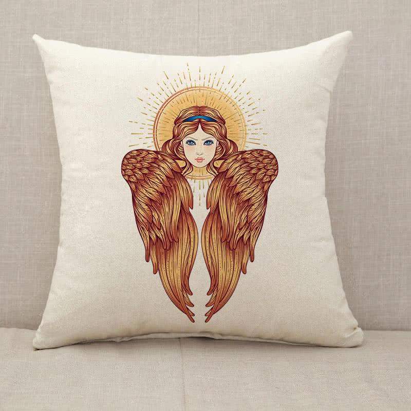 Sirin Alkonost Gamayun mythological creature of Russian legends Throw Pillow [With Inserts]