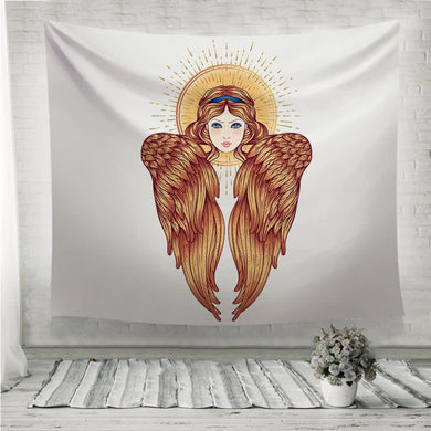 Sirin Alkonost Gamayun mythological creature of Russian legends Wall Tapestry