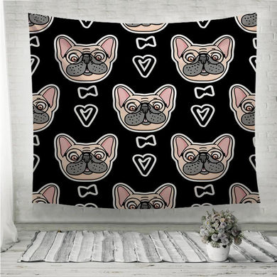 Mister Dog pattern Wall Tapestry