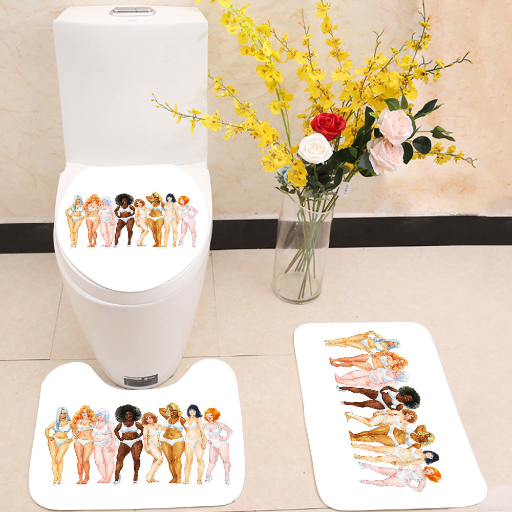 Plus size women 3 Piece Toilet Cover Set