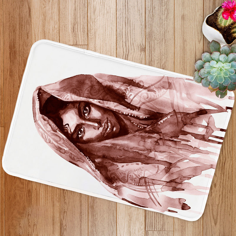 Brown indian woman Bath Mat