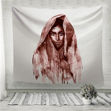 Brown indian woman Wall Tapestry