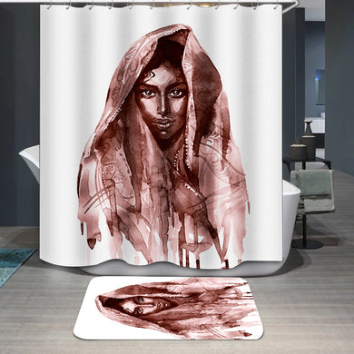 Brown indian woman Shower Curtain