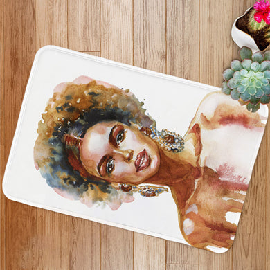 Fashion african woman Bath Mat