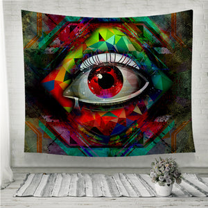 Vision cubism style Wall Tapestry