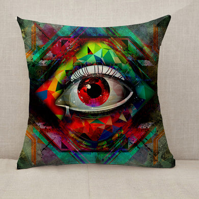 Vision cubism style Throw Pillow [With Inserts]
