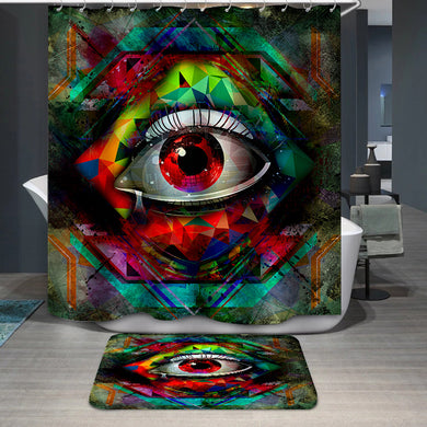 Vision cubism style Shower Curtain