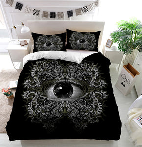 Vision Black and White Duvet Cover Bedding Set