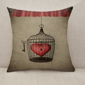 Locked heart Throw Pillow [With Inserts]