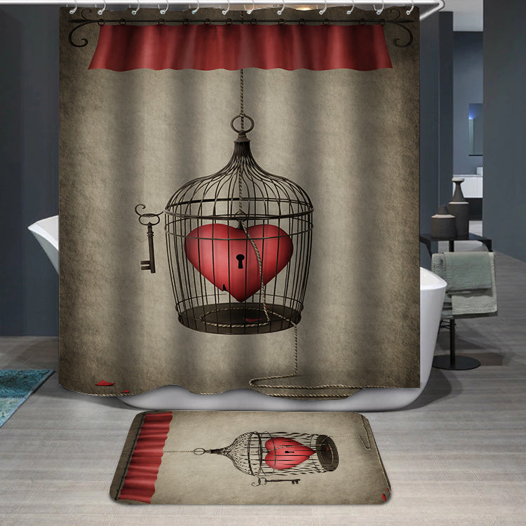 Locked heart Shower Curtain
