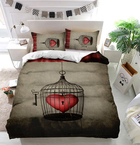 Locked heart Duvet Cover Bedding Set