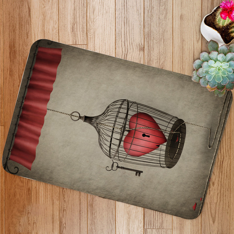 Locked heart Bath Mat