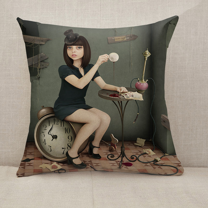 Crazy party Throw Pillow [With Inserts]