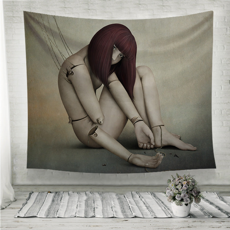 Broken doll Wall Tapestry
