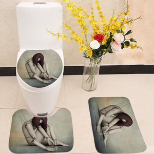Broken doll 3 Piece Toilet Cover Set