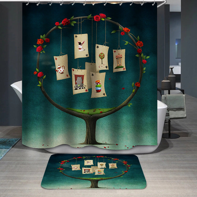 Tree with cards Shower Curtain