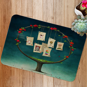 Tree with cards Bath Mat