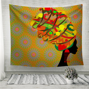Woman in traditional turban Wall Tapestry
