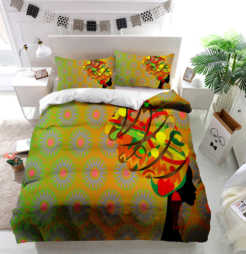 Woman in traditional turban Duvet Cover Bedding Set