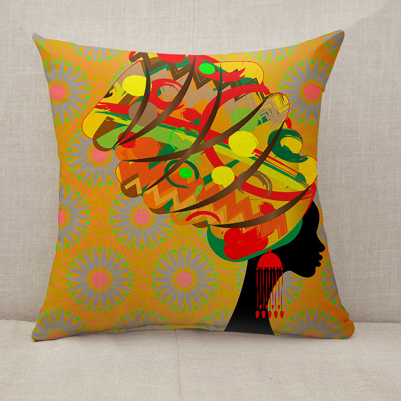 Woman in traditional turban Throw Pillow [With Inserts]