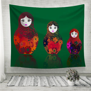 Russian nesting dolls matrioshka Wall Tapestry