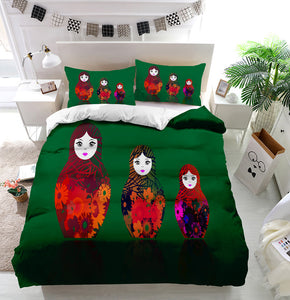 Russian nesting dolls matrioshka Duvet Cover Bedding Set