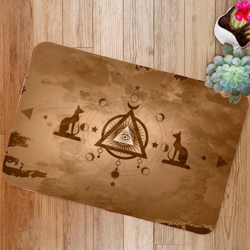 The third eye egyptian cats Bath Mat